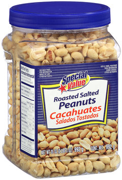 Special Value® Roasted Salted Peanuts 35 oz. Canister.