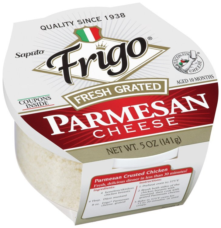 Frigo® Parmesan Fresh Grated Cheese 5 oz. Plastic Tub