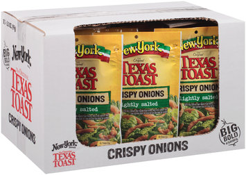 New York® the Original Texas Toast Lightly Salted Crispy Onions 3.5 oz. Stand-Up Bag