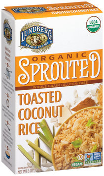 Lundberg Family Farms® Organic Sprouted Toasted Coconut Rice 6 oz. Box