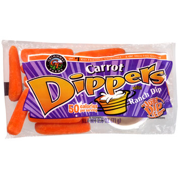 Grimmway Farms Carrot Dippers® with Ranch Dip 2.5 oz. Bag