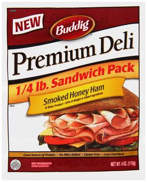 Buddig™ Premium Deli Smoked Honey Ham 4 oz. Pack