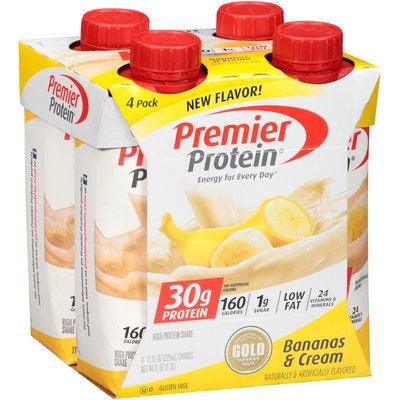 Premier Protein® Bananas & Cream High Protein Shake 4-11 fl. oz. Aseptic Cartons