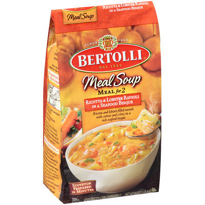 Bertolli® Meal Soup for 2 Ricotta & Lobster Ravioli in a Seafood Bisque