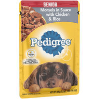 Pedigree® Choice Cuts Senior Morsels in Sauce with Chicken & Rice Wet Dog Food