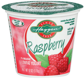 Haggen 1% Milkfat Raspberry W/Other Natural Flavors Lowfat Yogurt 6 Oz Cup