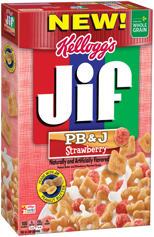Kellogg's® Jif® PB&J Strawberry Cereal 10.4 oz Box