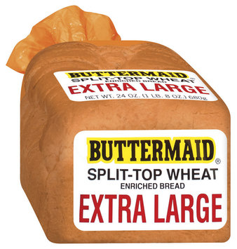 Buttermaid Extra Large Split-Top Wheat Bread 24 Oz Bag