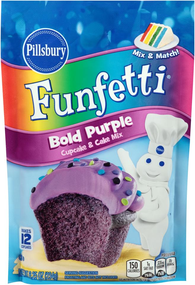 Pillsbury® Funfetti® Bold Purple Cupcake & Cake Mix 8.25 oz. Bag