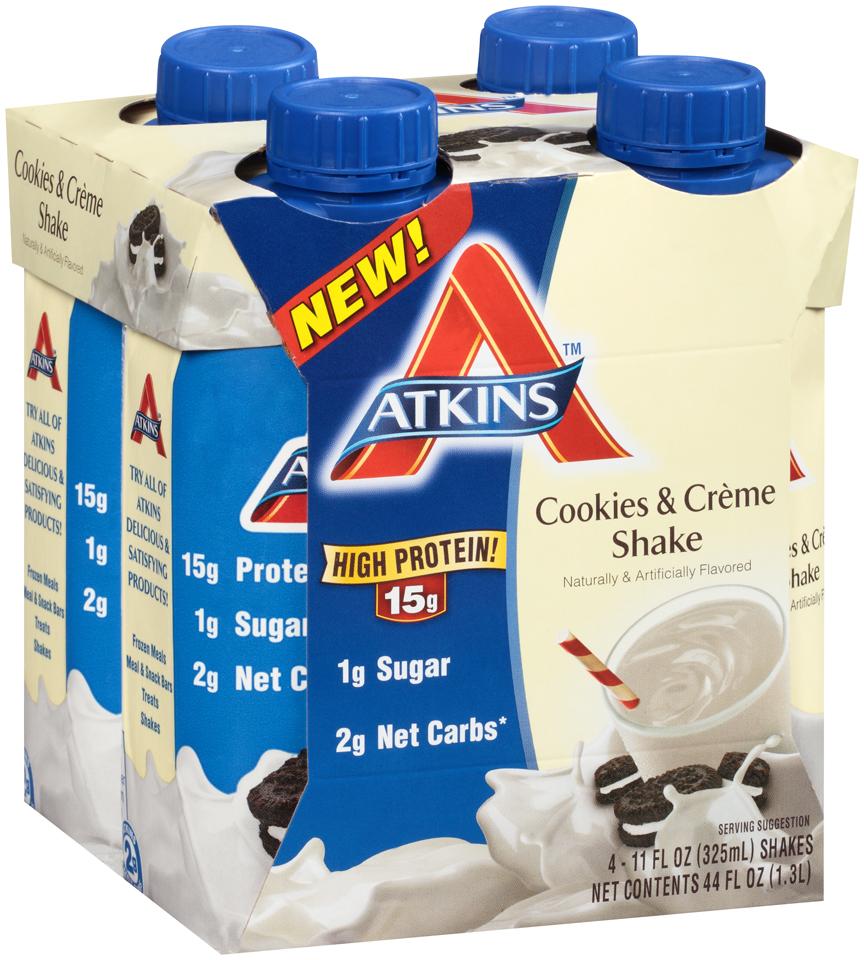 Atkins™ Cookies & Creme Shake 4-11 fl. oz. Aseptic Packs