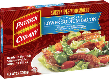 Patrick Cudahy® Sweet Apple-Wood Smoked Fully Cooked Lower Sodium Bacon