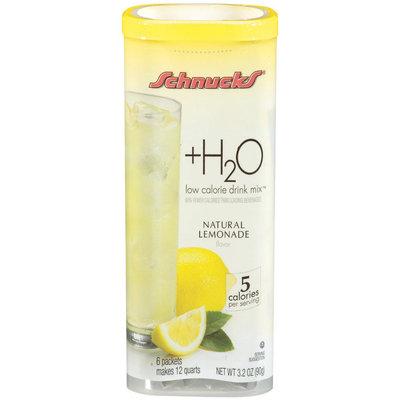 Schnucks® +H2O Natural Lemonade Low Calorie Drink Mix 6 Packets