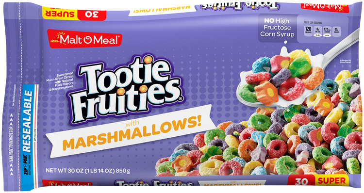 Malt–O–Meal® Tootie Fruities® with Marshmallows Cereal 30 oz. ZIP-PAK® Reviews 2019