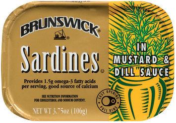 Brunswick In Mustard & Dill Sauce 3.75 Oz Tin Overwrap Sardines