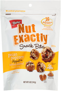 Fisher® Nut Exactly™ Pecan Popcorn Snack Bites Dipped in Salted Caramel 5 oz. Bag