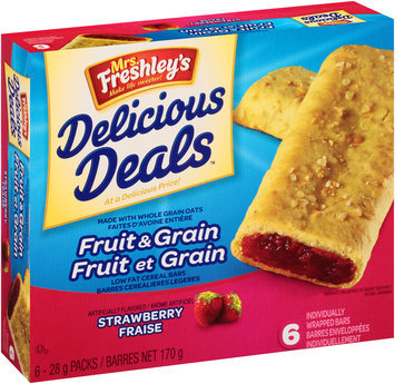 Mrs. Freshley's® Fruit & Grain Strawberry Cereal Bars 6-1 oz. Packages
