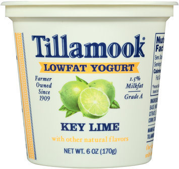 Tillamook® Key Lime Lowfat Yogurt 6 oz. Cup