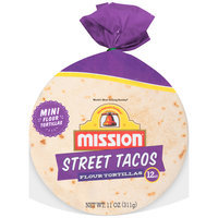 Mission® Street Tacos Flour Tortillas 11 oz. Bag