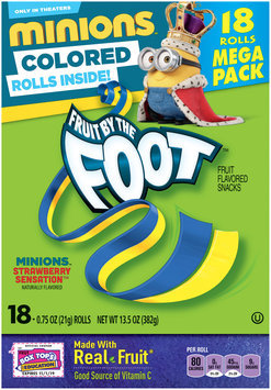 Fruit By The Foot Minions Strawberry Sensation