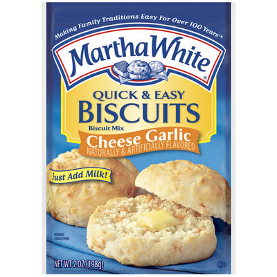Martha White Quick & Easy Cheese Garlic Biscuit Mix 7 Oz Packet