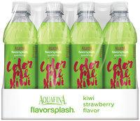 Aquafina® FlavorSplash® Color Me Kiwi Kiwi Strawberry Sparkling Water Beverage 12 Pack 16.9 fl. oz. Plastic Bottles