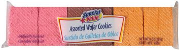 Special Value Assorted Wafer Cookies 9 Oz Package