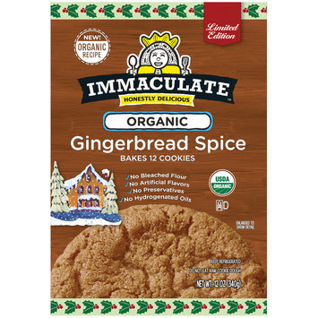 Immaculate™ Limited Edition Organic Gingerbread Spice Cookie Dough 12 oz. Bag