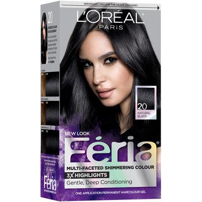 L'Oréal® Paris Feria® Multi-Faceted Shimmering Colour 20 Natural Black Hair Color 1 kt Box