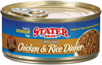 Stater Bros. Ground Chicken & Rice Dinner Dog Food 5.5 Oz Can