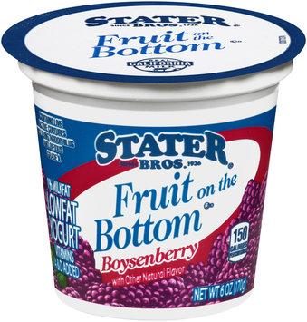 Stater Bros.® Fruit on the Bottom Low Fat Boysenberry Yogurt 6 oz. Cup