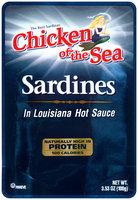 Chicken of the Sea® In Louisiana Hot Sauce Sardines 3.53 oz.