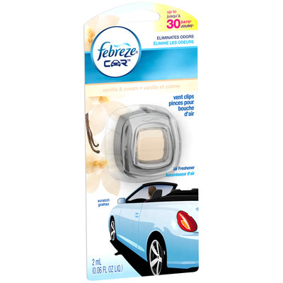 Car Febreze® CAR Vent Clips Vanilla & Cream Air Freshener  (1 Count, 0.06 Oz)