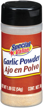 Special Value  Garlic Powder 1.89 Oz Shaker