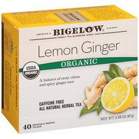 Bigelow® Lemon Ginger Organic Caffeine Free Herbal Tea 40 ct Box