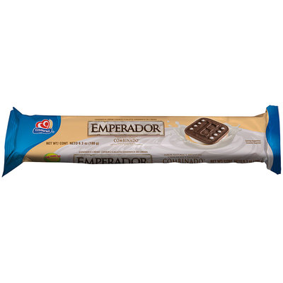 GAMESA Emperador (Chocolate & Vanilla) Creme Sandwich Cookie 6.3 Oz Wrapper