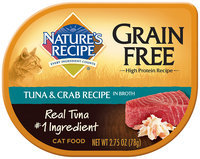 Nature's Recipe® Grain Free Tuna & Crab Recipe in Broth Cat Food 2.75 oz. Container
