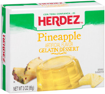 Herdez™ Pineapple Gelatin Dessert 3 oz. Box