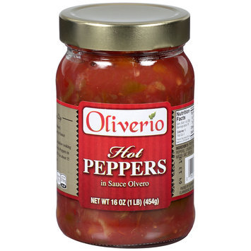 Oliverio Hot Peppers in Sauce Olvero 16 oz. Jar