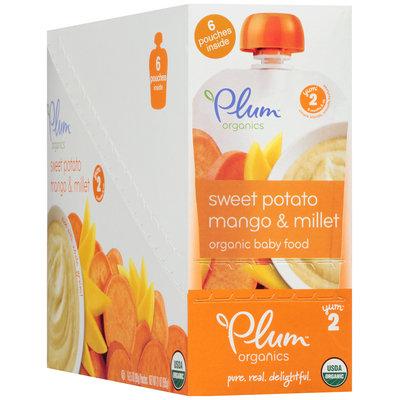 Plum Organics® Stage 2 Sweet Potato Mango & Millet Organic Baby Food 6-3.5 oz. Pouches