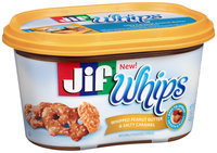 Jif® Whips Whipped Peanut Butter & Salty Caramel Spread 15 oz. Tub