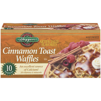 Haggen Cinnamon Toast 10 Ct Waffles 12.3 Oz Box