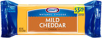 Kraft Natural Cheese Mild Cheddar Cheese 8 oz. Brick