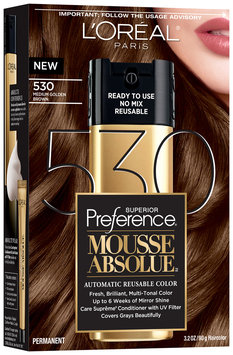 L'Oréal® Paris Superior Preference® Mousse Absolue™ 530 Medium Golden Brown Haircolor 3.2 oz. Box