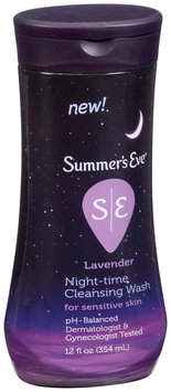 Summer's Eve® Lavender Night-Time Cleansing Wash for Sensitive Skin