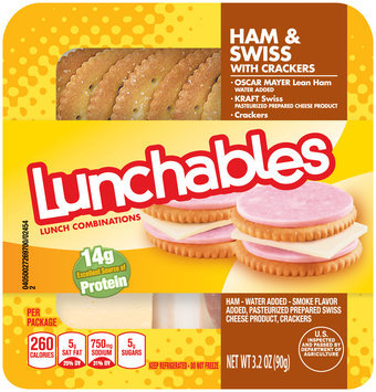 Lunchables Oscar Mayer Ham & Swiss with Crackers