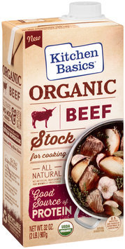 Kitchen Basics® Organic Beef Cooking Stock 32 oz. Aseptic Pack