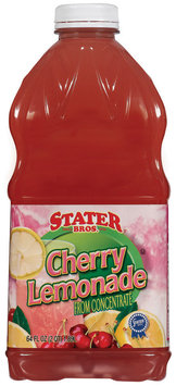 Stater Bros. Cherry from Concentrate Lemonade 64 Oz Plastic Bottle