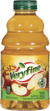 Veryfine from Concentrate W/Added Ingredients 100% Apple Juice 32 Oz Plastic Bottle