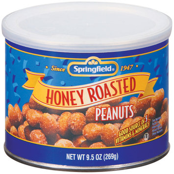 Springfield Honey Roasted Peanuts Nuts 9.5 Oz Can