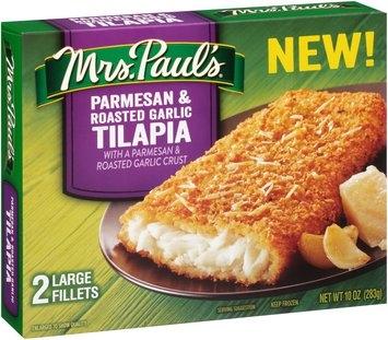 Mrs. Paul's® Parmesan & Roasted Garlic Tilapia Fillets 2 ct Box